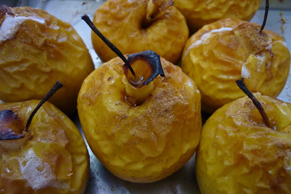 manzanas al horno receta facil