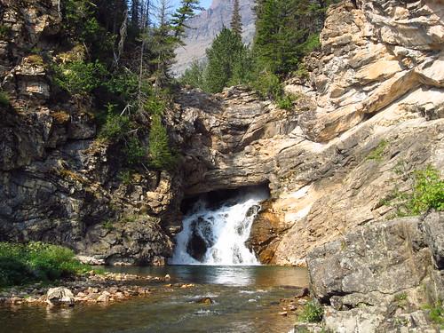 Running Eagle Falls, Glacier National Park, Montana