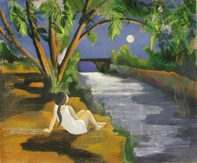 Notturno sul fiume - Night on the river - Nacht auf dem Fluss - Nocturne sur la rivière - Nocturno à beira do rio