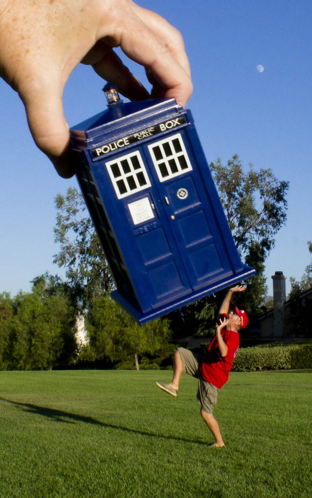 DPS: Forced Perspective | Tardis Lands in Temecula! News at
