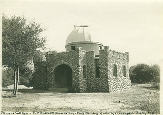 Brackett Observatory at Pomona College, around the time of its construction in 1908