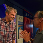 Mark Haddon chats to audience | Mark Haddon chats to an audience member