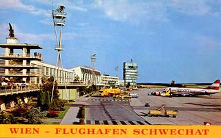 Austria - Vienna, Schwechat Airport (Postcard c.1969)