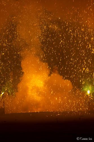 toyohashi 豊橋 手筒花火 炎の祭典