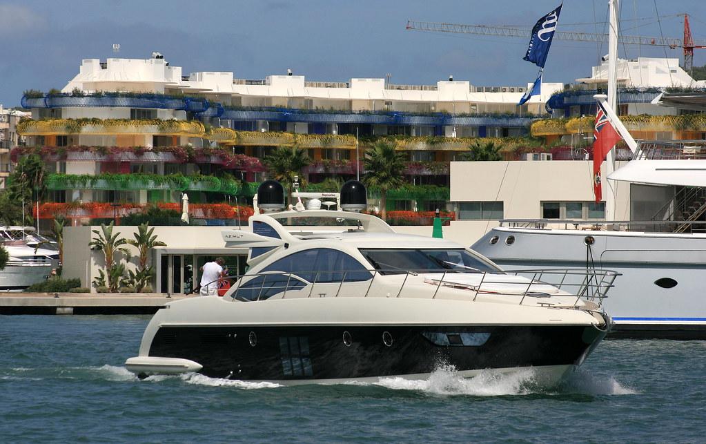 Seddik speedboat leaving Marina Ibiza