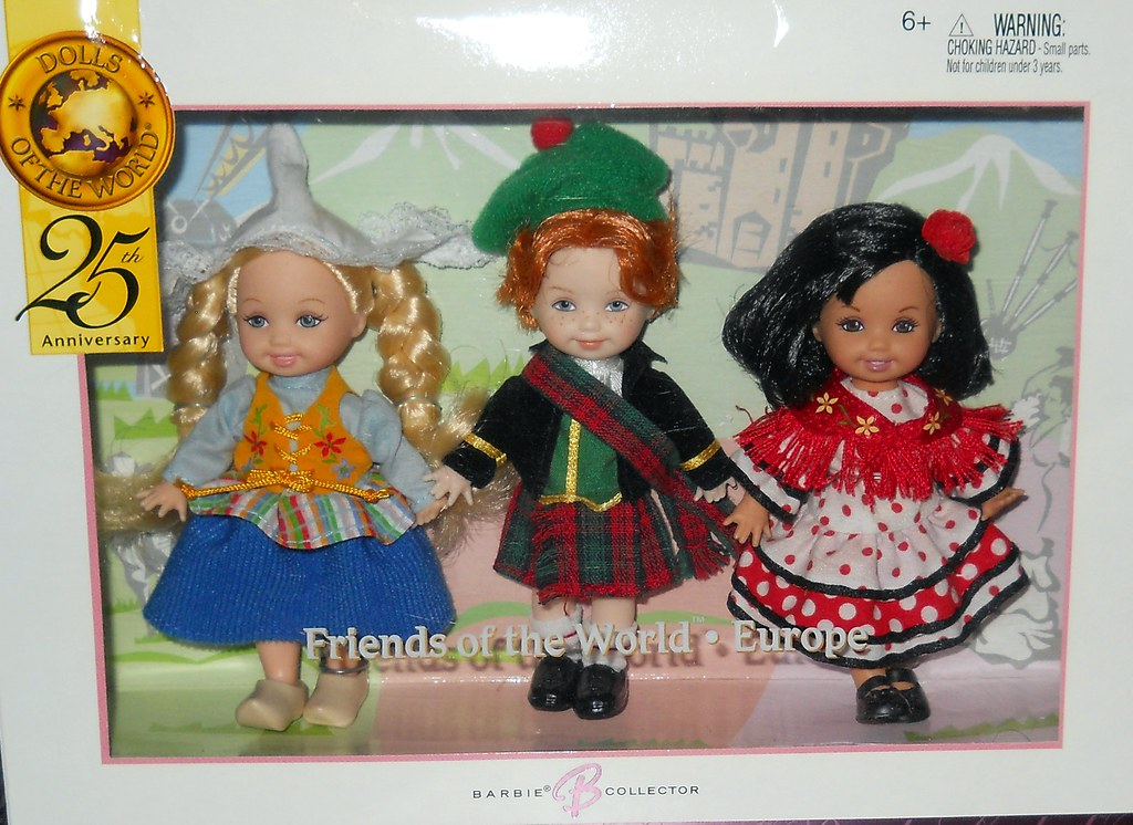 Kelly Doll and Friends of the World Dolls Gift Set