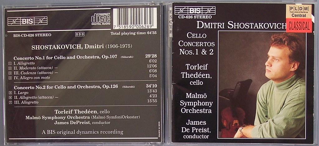 shostakovich- cello concertos nos 1 & 2 (thedéen) | Flickr
