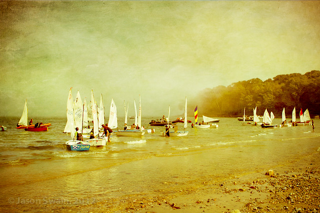 Learning to sail at Priory Bay, Isle of Wight