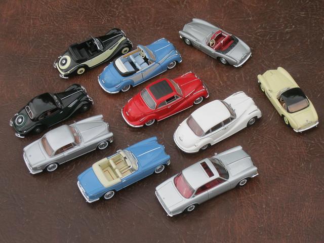 BMW collection - 327/8 Coupe & Cabriolet, 501, 502 Coupe & Cabriolet, 503 Coupe & Cabriolet, 507 Roadster & Hardtop, plus 3200CS Bertone