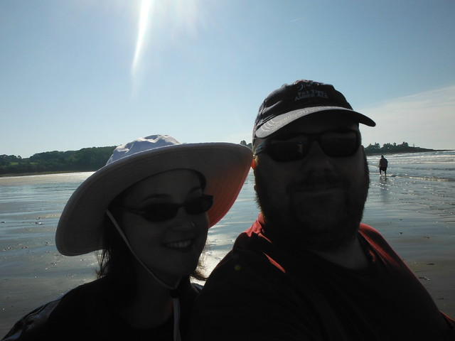 Jess and Brian love the sun