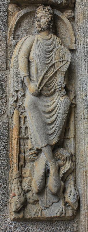 Puerta de las Platerias-el Rey David