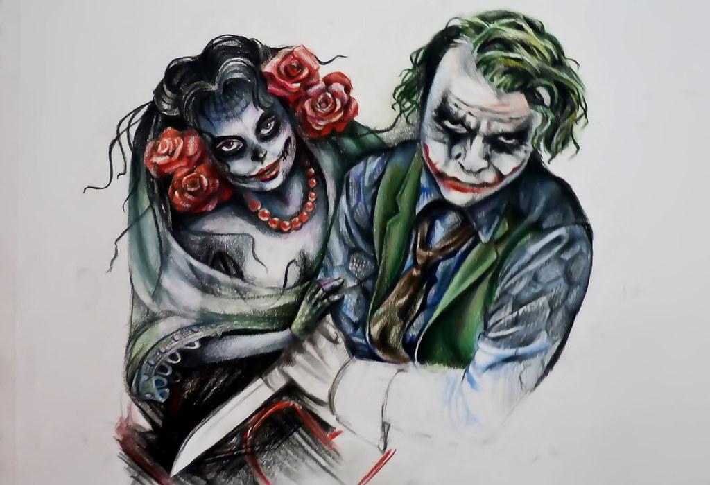 joker and bella tattoo design