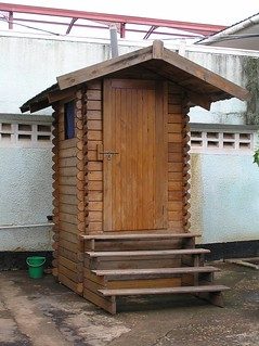 P9080132 UDDT fully functional in wood, Ministry of Water and Lands, 2003