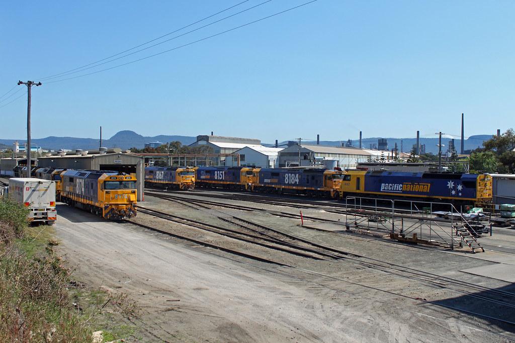 Port Kembla loco by Thomas