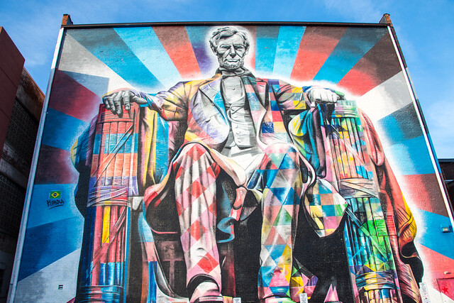 Mural of Abraham Lincoln