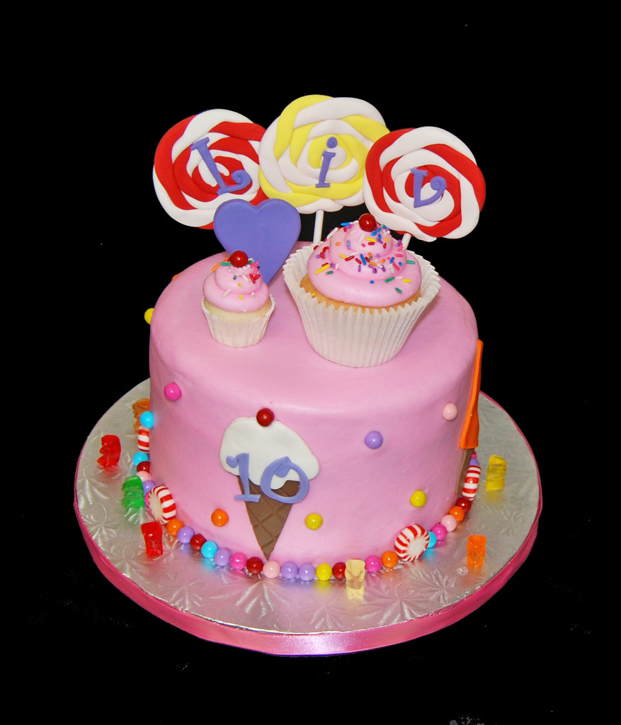 Pleasing 10Th Birthday For A 10Th Brithday Cake Katy Perry Californ Flickr Personalised Birthday Cards Veneteletsinfo