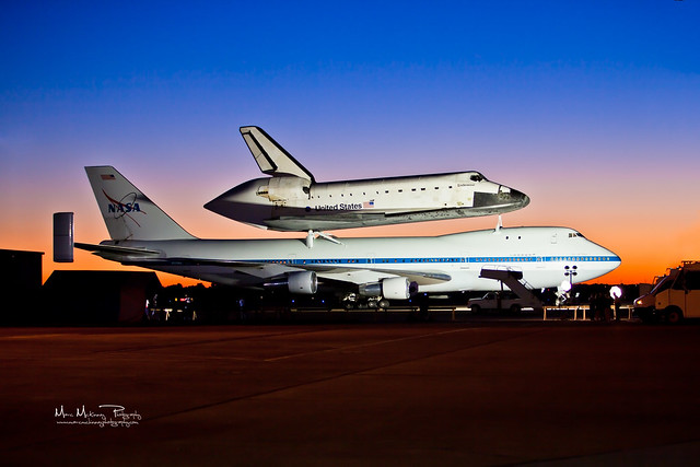 Endeavour Awaits Departure in Houston