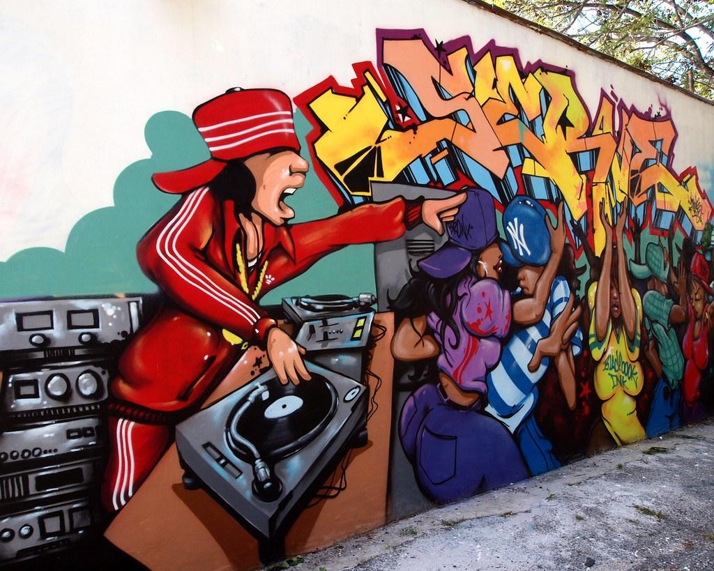 DJ DANCE Graffiti Mural, Soundview, Bronx, New York City