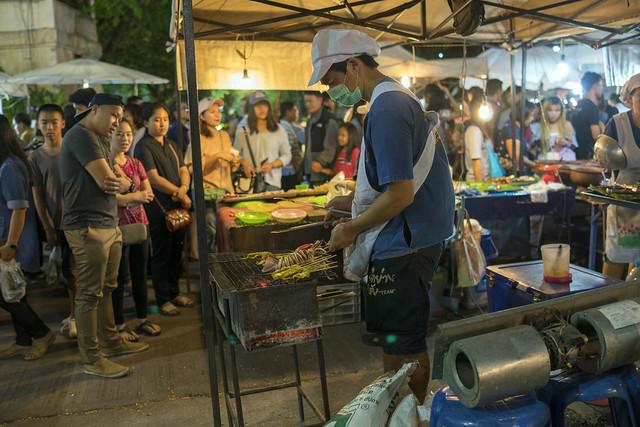Street food in in Chiang Rai, Thailand