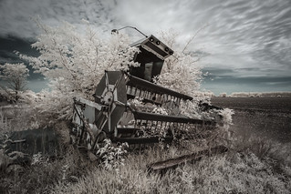 Combine Harvester Infrared | by Notley Hawkins