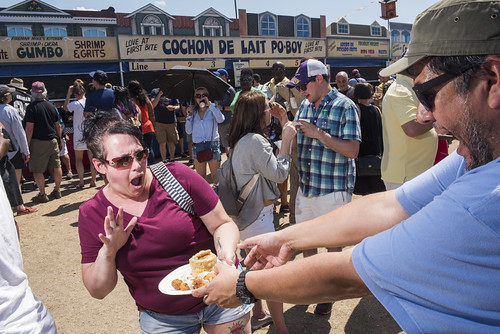 Jorge Eats at Jazz Fest Day 7 on May 5, 2018. Photo by Ryan Hodgson-Rigsbee RHRphoto.com