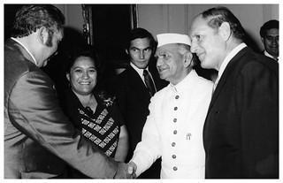 Queen Te Ātairangikaahu in New Delhi, 1975