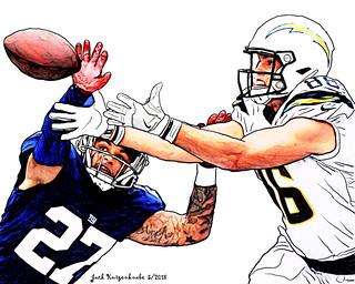 New York Giants Darian Thompson - Los Angeles Chargers Hunter Henry