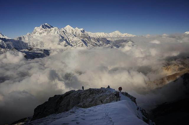 Climbing Pisang Peak (6100 m), Nepal