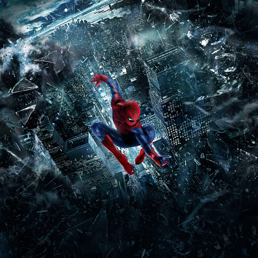 Amazing Spiderman Movie Poster Cityscapes Photographed B