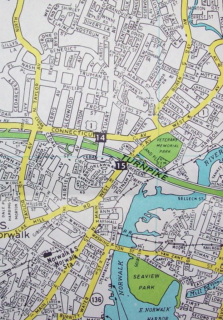 Norwalk CT (Nov 1965) | Map by Hagstrom Maps. | Flickr