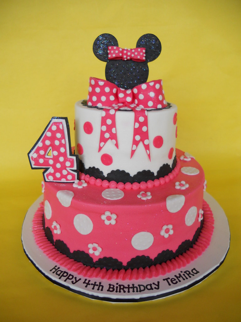 Swell Minnie Mouse 4Th Birthday Cake Amy Stella Flickr Birthday Cards Printable Opercafe Filternl