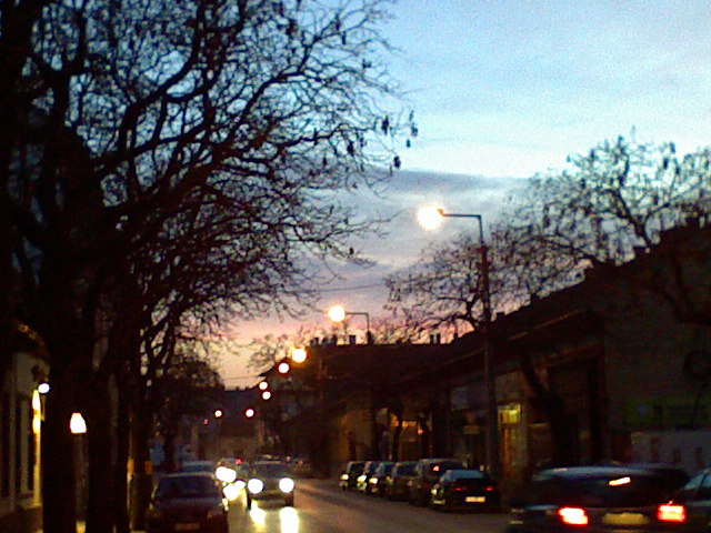 On #Templom #utca (#Street) in #Ujpest, #Pest, #Budapest, #Hungary - #mobile #photo shot with #SonyEricsson #K510i mobile phone - remains #unedited