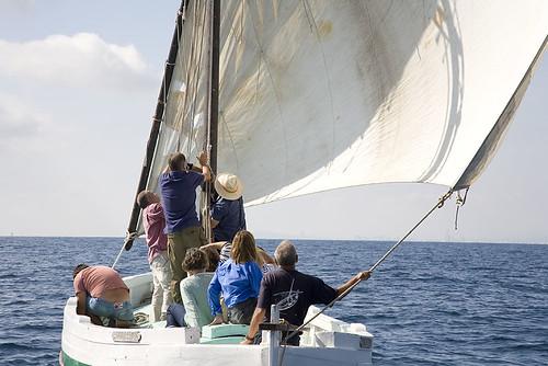 Navegació tradicional a Mataró, octubre 2012