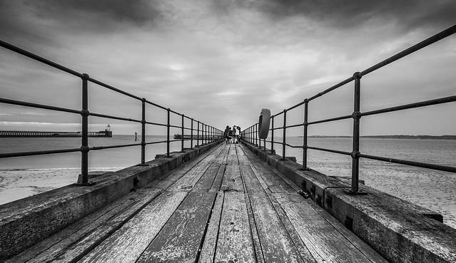 Sunday Afternoon on Blyth Pier (Mono).