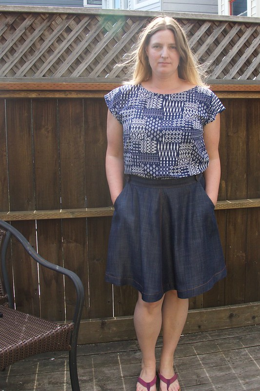 chambray Hollyburn skirt