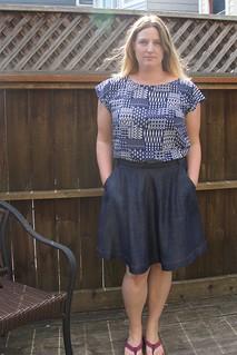 chambray Hollyburn skirt