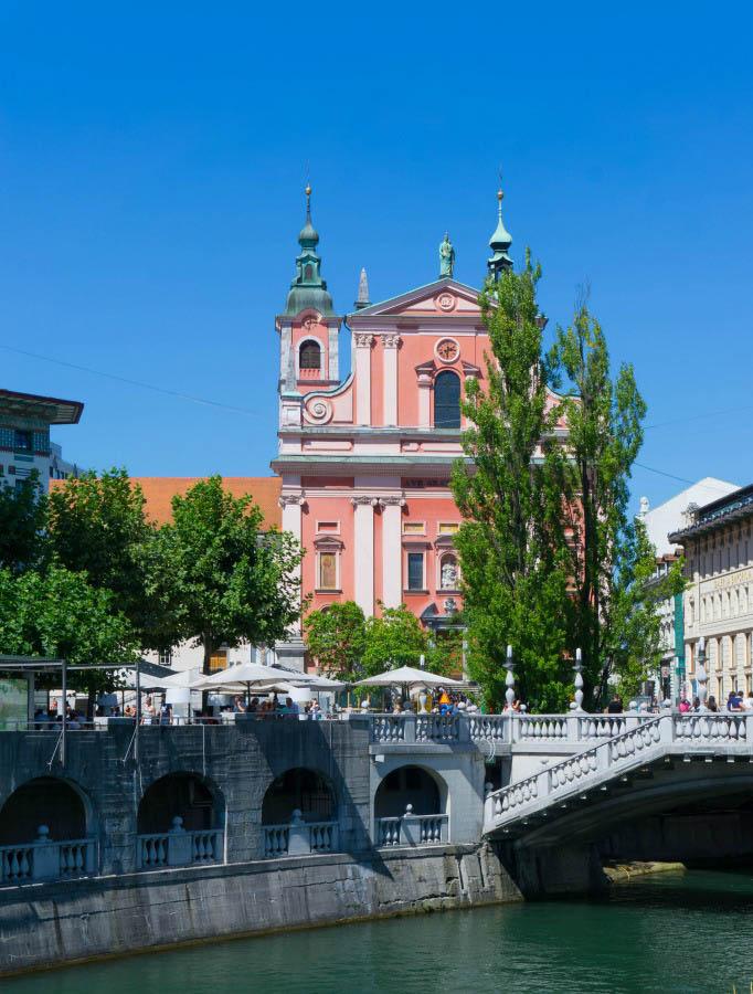 Ljubljana Slovenia River View