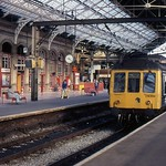 BR DMU Set CH266 at Preston Station, 21st. September 1989.