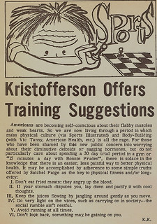 Athletics training advice from Kris Kristofferson '58