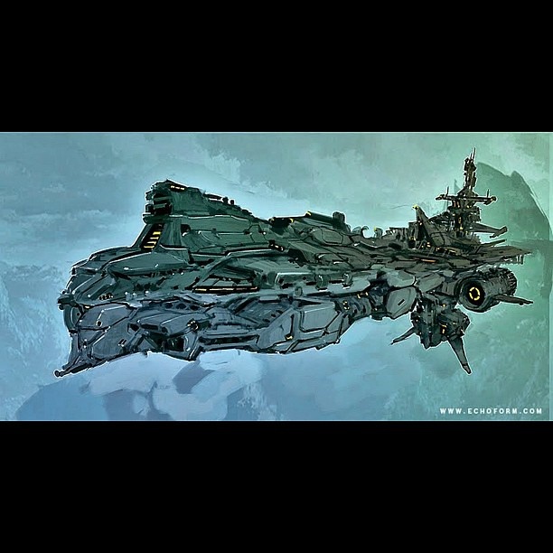 spaceship painted in autodesk sketchbook pro and colors ad… | Flickr