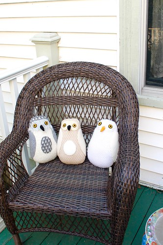 snowy owls on the porch | by Mimi K