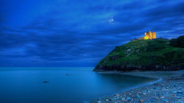 Criccieth Castle Dressed in Blue