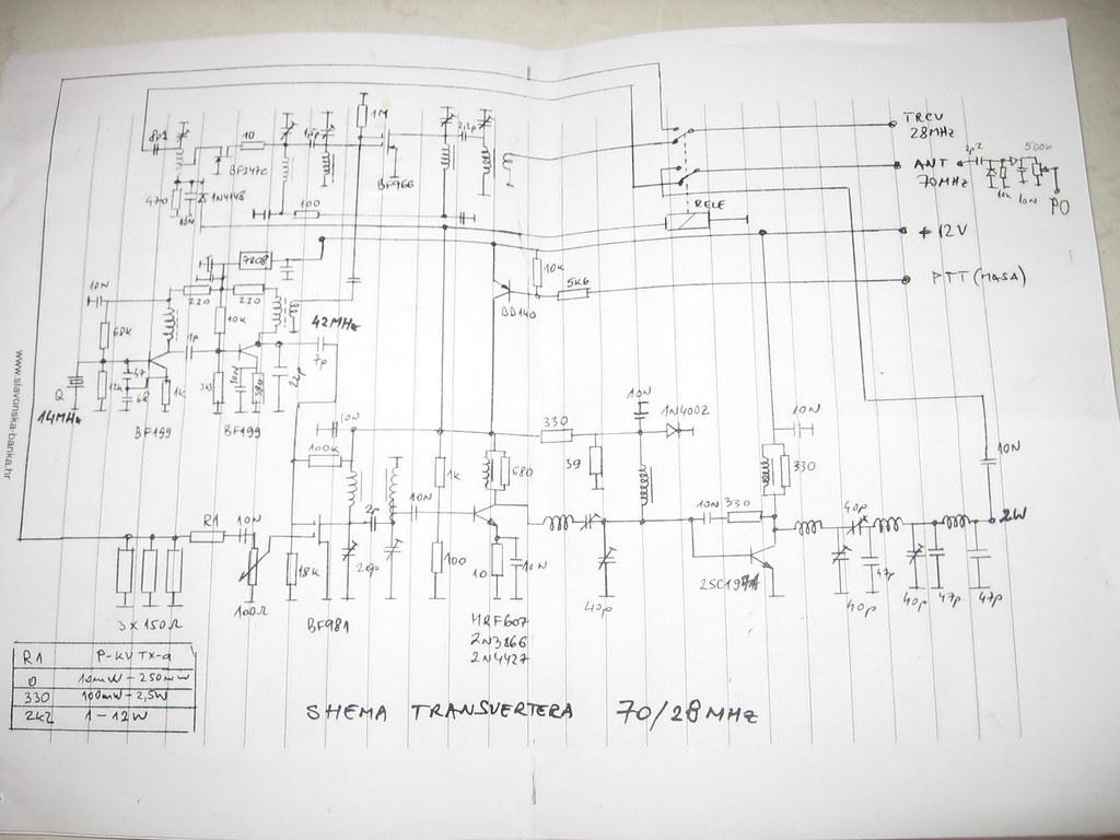 4m  transverter | Schematic for 28/70MHz  transverter