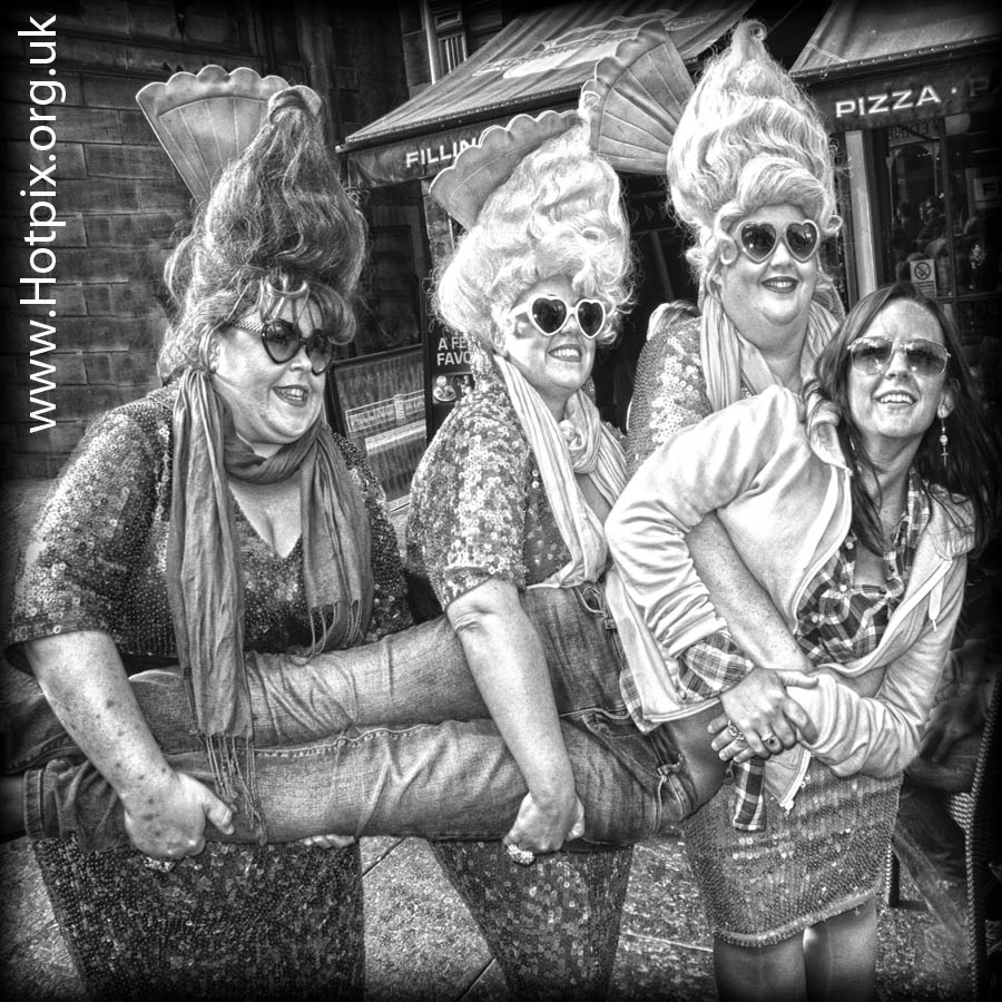 fringe,Edinburgh,2012,2012fringe,fringe2012,city,Scotland,festival,sinister,strange,men,couple,festival2012,b/w,black,white,mono,busker,street,shot,tonysmith,hotpix,UK,B52,hair,styles,style,heart,old,town,Sundaes,Knickerbocker,Glory,fat,tubby,women,ladies,lady,face,street scene,street performer,HDR,mono HDR,bandw,extreme,scotia,ecosse,tattoo,august,scenes,capital