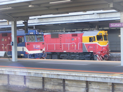 V Line N453 and N456 Southern Cross 03.03.10 | by Andys Trains