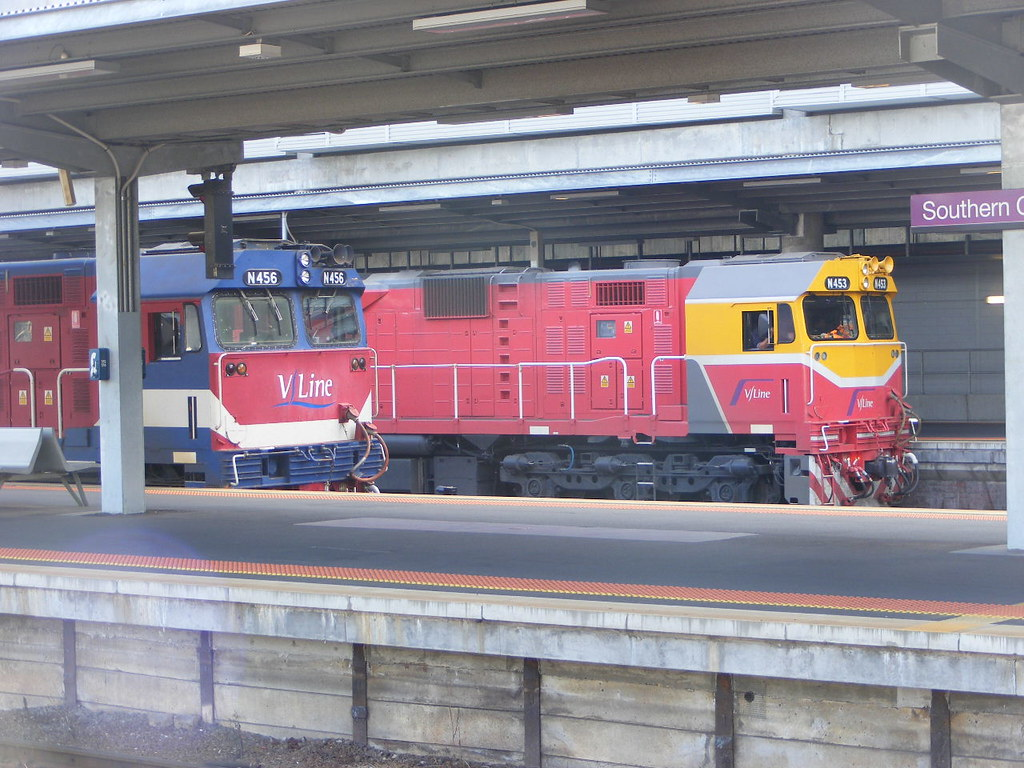 V Line N453 and N456 Southern Cross 03.03.10 by Andy Cole