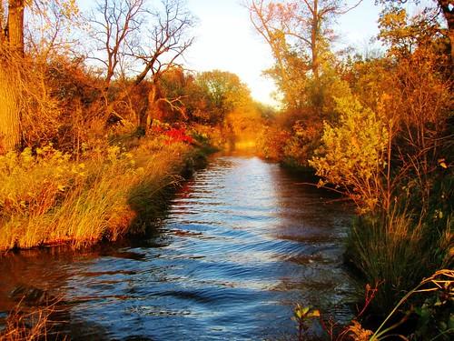 sunset lake fall water colors minnesota creek shadows