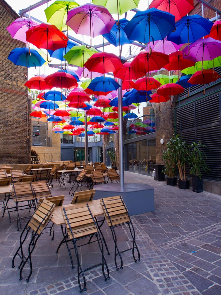 Umbrellas in Borough Market