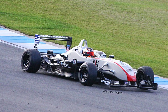 Spike Goddard in Formula Three Racing at Donington Park, September 2012