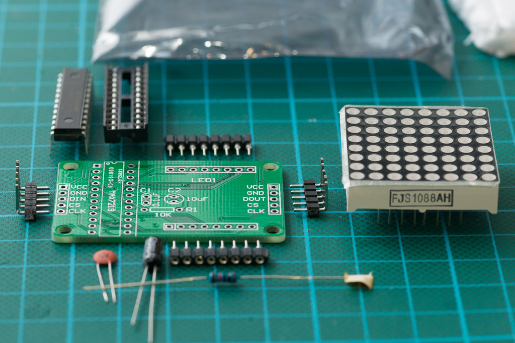LED Matrix- PCB and Parts DIY MAX7219 Red LED Dot Matrix D